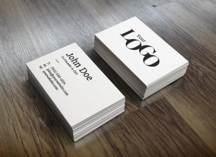 MockUp realista para tarjetas de visita