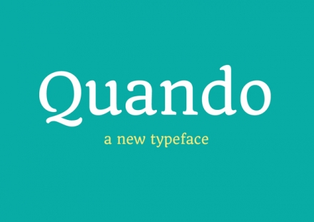 Quando Free typeface