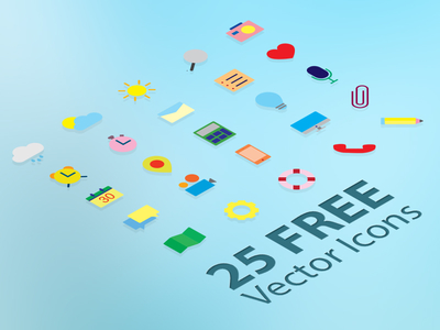 25 Flat Vector Icons