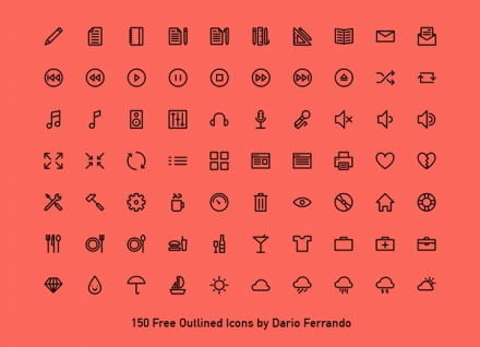150 Outlines Icons