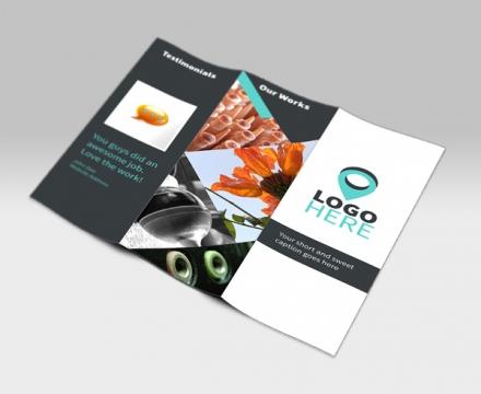 TriFold Brochure PSD Mockup