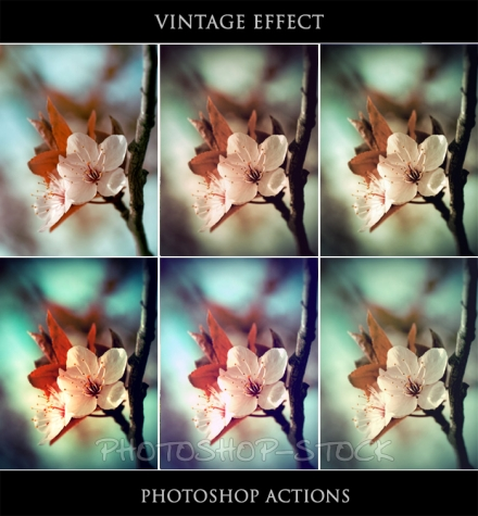 Photoshop Actions: 5 Vintage Effects