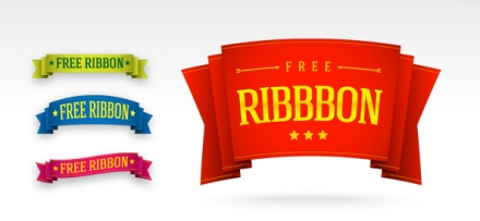 5 PSD Ribbon Template