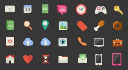 200 Beautiful Flat Icon Set
