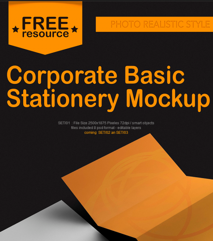 Corporate Basic Stationary Mockup
