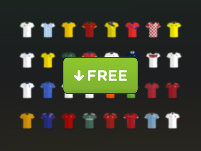 World Cup 2014 Jersey Vector Flat