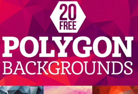 20 Free Polygon Backgrounds