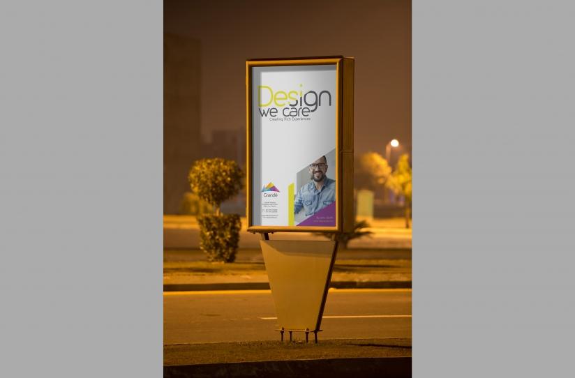 Outdoor Roadside Poster Mockup