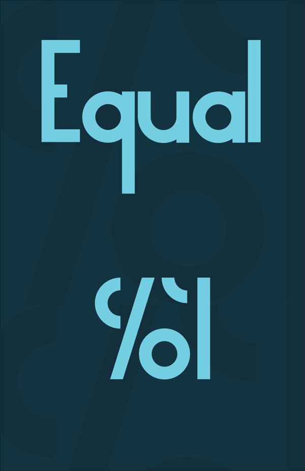 equal free font