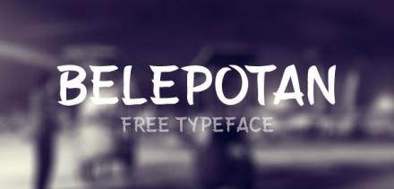 Belepotan Free Typeface