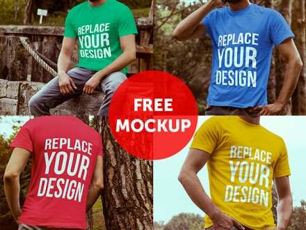 4 T-shirt Mockup
