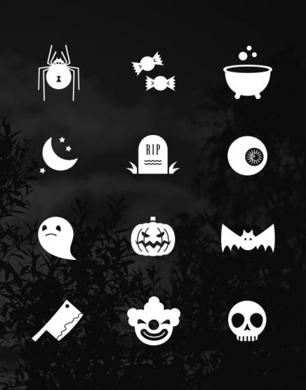 Iconos Flat de Halloween