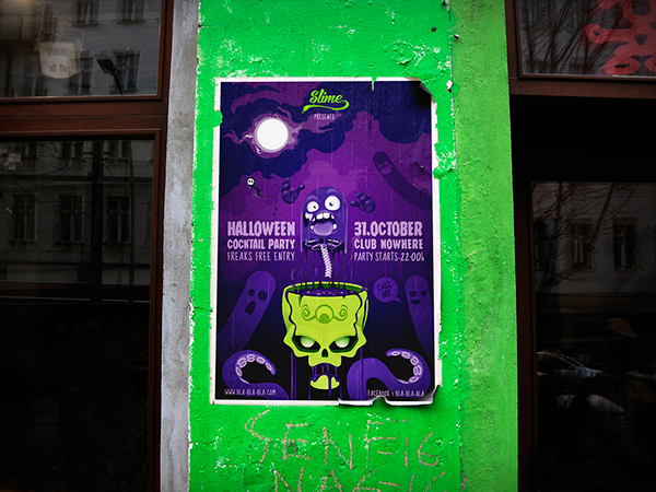 halloween poster psd free