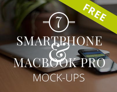 7 Smartphone and Notebook Mockups