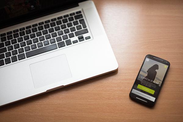 smartphone macbook pro mockup 6