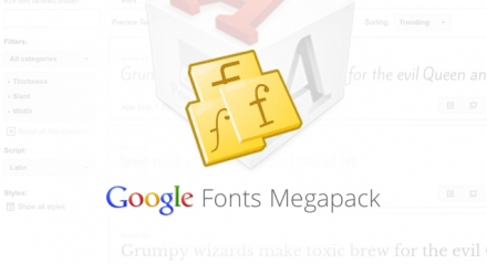 MegaPack Google Fonts