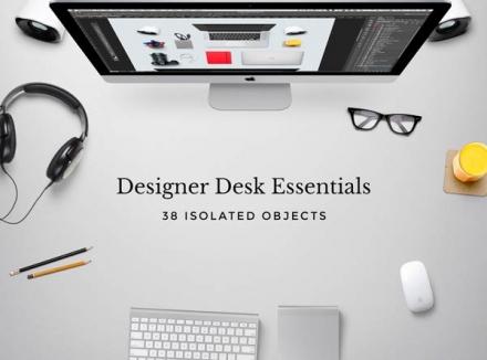 38 Objetos de escritorio en .PSD