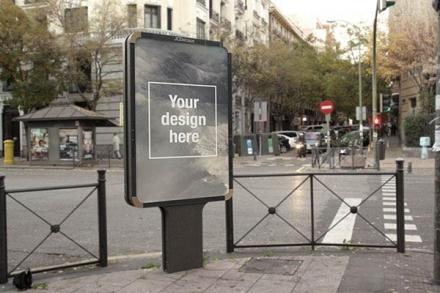 Mockup para publicidad exterior