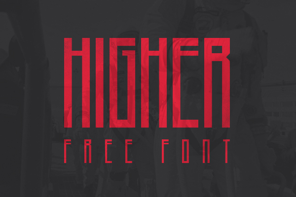 higher free font