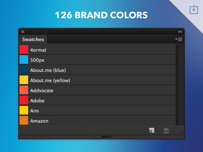 brand colors swatches photoshop