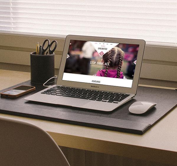 photorealistic macbook air mockup